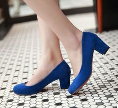 Spring size customize women's scrub single shoes chromophous high-heeled trend