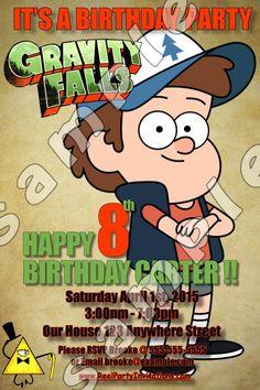 Gravity Falls 4x6 Birthday Invitation #2