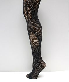 Another great find on #zulily! Black Tribal Fishnet Tights by Via Spiga #zulilyfinds