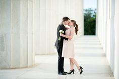 Nick & Mackenzie's intimate, Washington DC elopement. Images by Rebekah Hoyt Photography.