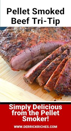 For this Pellet Smoked Beef Tri-Tip recipe, we are using a more complex spice blend. This roast is slow-smoked and then pulled right as it reaches the optimal internal temperature. Traeger Recipes, Smoked Meat Recipes, Roast Recipes, Traeger Smoked Tri Tip Recipe, Venison Recipes, Rib Recipes, Sausage Recipes, Smoker Grill Recipes, Smoker Cooking