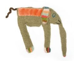 crochet brooches by Sophie Digard -- elephant