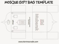Karima's Crafts: Mosque Gift Bag Template - 30 Days of Ramadan Crafts