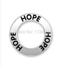 Antique silver alloy two sides hope message charms necklaces bracelets jewelry charms ,hope message circle charm ,hope affirmation ring charm .