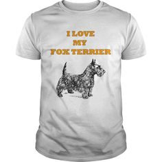 I Love my dog fox terrier t-shirt
