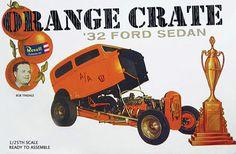 Bob Tindale Orange Crate Ford Sedan.