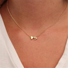 Gold-Color Long Chain Minimalist Necklace Gold-Color Heart Pattern Pendant Necklace For Women Jewelry Collier Femme Initial Charm Necklaces, Initial Necklace Gold, Coin Pendant Necklace, Pendant Jewelry, Necklace With Initials, Gold Necklaces, Dainty Gold Necklace, Necklaces For Women, Diamond Necklaces