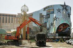 Demolition of The Riviera hotel