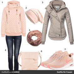 Schickes Damen-Outfit in Altrosa (w0022) #frauenmode #fashion #style #mode #damenmode #inspiration #fashion #womenswear