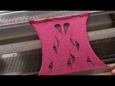 YouTube Loom Knitting Stitches, Knitting Machine Patterns, Sweater Knitting Patterns, Baby Knitting, Shibori, Knit Baby Dress, Christmas Stockings, Crochet Top, Ornaments