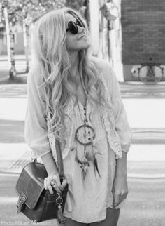 Hippy Style <3 dream catcher necklace :)
