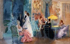 Le Soir au Chateau by Henri Lucien Doucet