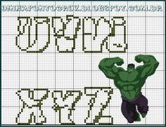 monograma Hulk by Dinha ponto cruz