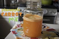 Pineapple Carrot Pear Orange Juice    (makes about 18 oz. of juice)        4 carrots      1 pear      1/2 pineapple      1 navel orange    Juice the pineapple first. It tends to be thick & pulpy so it's best to clean out your pulp after juicing. Juice carrots, then orange and finish with the pear! Mix together and it's time to PAR-TAY.    Article printed from shutterbean: http://www.shutterbean.com    URL to article: http://www.shutterbean.com/pineapple-carrot-pear-orange-juice/