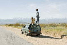 car, boy, and travel image
