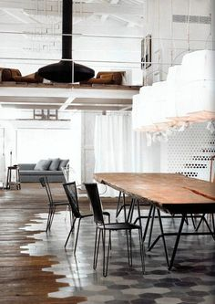 Umbria #farmhouse renovation by industrial & interior #designer Paola Navone. Fabulous #tile and wood #flooring! #design