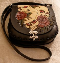 Hand Made And Tooled Leather Handbag Purse by F8customs on Etsy, $175.00