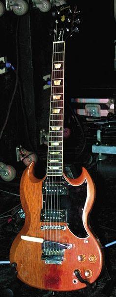 Frank Marino's touring 1960s Gibson SG/Les Paul Standard.