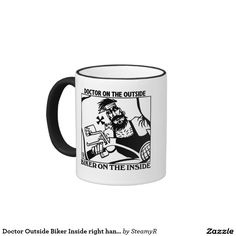 Doctor Outside Biker Inside right hand mug