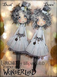 Urchin Art Dolls by Vicki at Lilliput Loft ~ 'Dusk & Dawn'