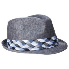 Men s Trilby (NOT a Fedora as mislabelled by so many retail sites) with  Gingham Band - Grey 26b0ecc911c