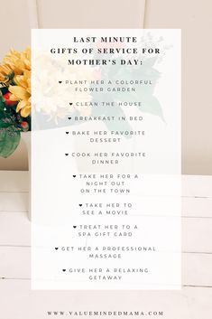 How to Get Last Minute Mother's Day Gift Ideas — Value Minded Mama Unique Gifts, Best Gifts, Professional Massage, No Cook Desserts, Breakfast In Bed, Spa Gifts, Last Minute Gifts, Just Giving, Gifts For Girls