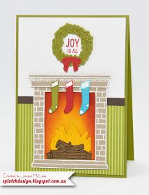 Splotch Design - Jacquii McLeay Independent Stampin' Up! Demonstrator: Festive Fireplace Cards