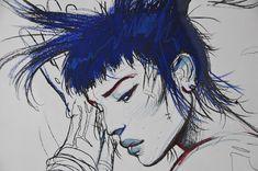 Bilal, Tattoo (réhaut, détail) Comic Art