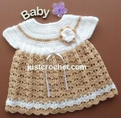 (4) Name: 'Crocheting : FJC33-Angel Dress Baby crochet pattern