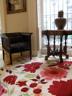 Morning Roses Designer Rug From The Kim Parker Home Collection