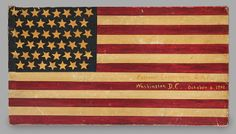 Forty- Five Star American National Flag Two-Sided Signboard, American, dated 1902