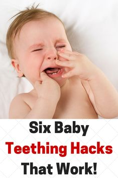 Teething is inevitable, but these simple teething hacks will help you and your baby get through it! http://matimatimedia.com/six-teething-hacks