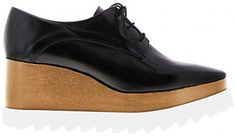 """Tony Bianco """"Peppa"""" Lace-Up Platform Oxfords in black, tan and white, $219.95 AUD (Stella McCartney Britt look-a-likes)"""