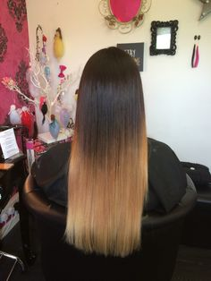 Sombre ombre long hair blonde brown