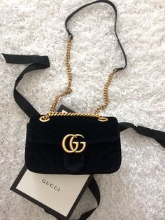 Gucci Marmont velvet mini bag