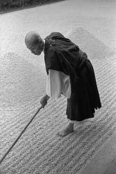 Zen budhism, Kyoto, Japan   by René Burri, Magnum Photos -