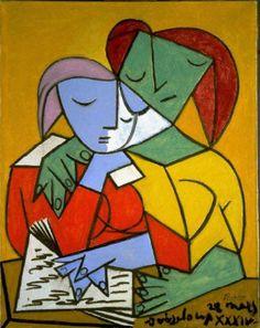 Pablo Picasso (Spanish, 1881-1973). Two Girls Reading, 1934. The University of Michigan Museum of Art, Michigan. Gift of Carey Walker Foundation, 1994. http://www.umma.umich.edu