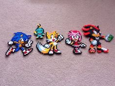 Sonic Perler Beads by TheBeadLord on deviantART