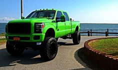 Nice custom paint job. This looks like a Florida truck..not a color you'd wanna be sporting if you live out in the country but it still looks sick.
