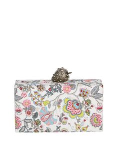 402d5aaa2cec Edie Parker Wolf Paisley Clutch Bag with Strawberry Clasp