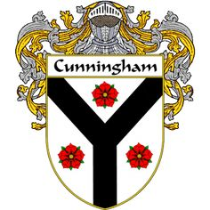 Cunningham Coat of Arms   namegameshop.com has a wide variety of products with your surname with your coat of arms/family crest, flags and national symbols from England, Ireland, Scotland and Wale