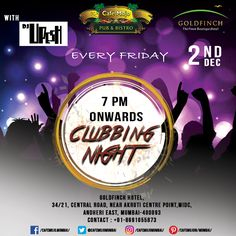 Clubbing Night is back this Friday at Café Mojo Mumbai for you and your friends to dance the night away. With some insane music, drinks, and food, what's stopping you from having the best Friday night! #CafeMojo #Pubs #Party #Beer #Fun #Beers #Enjoy #GoodTimes #OntheBar  #Parties #PartyMusic #DrinkLocal #Music #Dance #Pub #Drinks #EatLocal  #BeerDrinks #Mumbai  #OnthePub  #Clubbing #Club #Bar #NightOut #NightClub