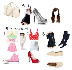 """""""Party and photo-shoot"""" by aminahbinah on Polyvore featuring Preferred Nation, Forever 21, Lauren Lorraine, Converse and TOMS"""