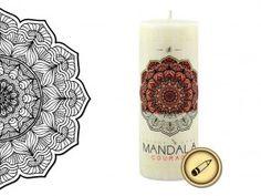 MANDALA Courage                                             - ODVAHA Pillar Candles, Mandala, Mandalas, Taper Candles, Coloring Pages Mandala, Candles