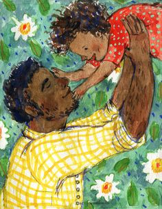 """""""Father's Love v.1"""" an illustration for Father's Day, available as a card in my Etsy shop! Phoebe Wahl 2014"""