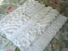 Vintage White Chenille Quilt Squares-10-6 inch. $10.00, via Etsy.