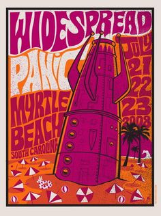 Widespread Panic Crashed Rocket Concert Poster by Methane Studios