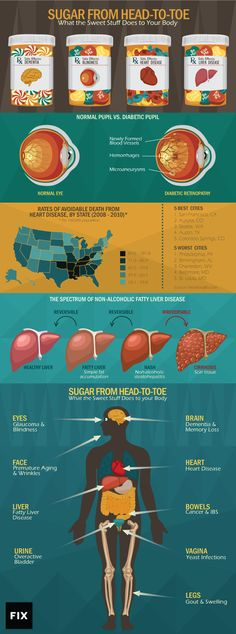 Learn How Our Bodies Interact With Sugar Consumption From Our Heads To Our Toes!