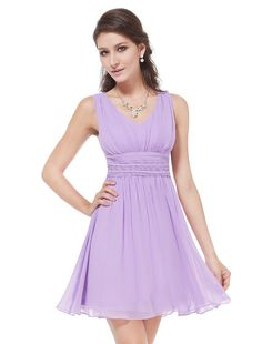 Bridesmaid Dresses for Carolin's Wedding Ever Pretty Womens Short Sleeveless Casual Cocktail Dress 1 Dresses For Teens, Casual Dresses For Women, Clothes For Women, Formal Dresses, Empire Waist Bridesmaid Dresses, Chiffon Dresses, Vestido Color Lila, Casual Cocktail Dress, Cocktail Dresses