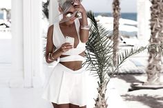 http://9lookbook.com/chic/summer-shorts-and-top-set.html - Summer shorts and top set - by Kristina D., 21 year old Model and Blogger from Odessa, Ukraine